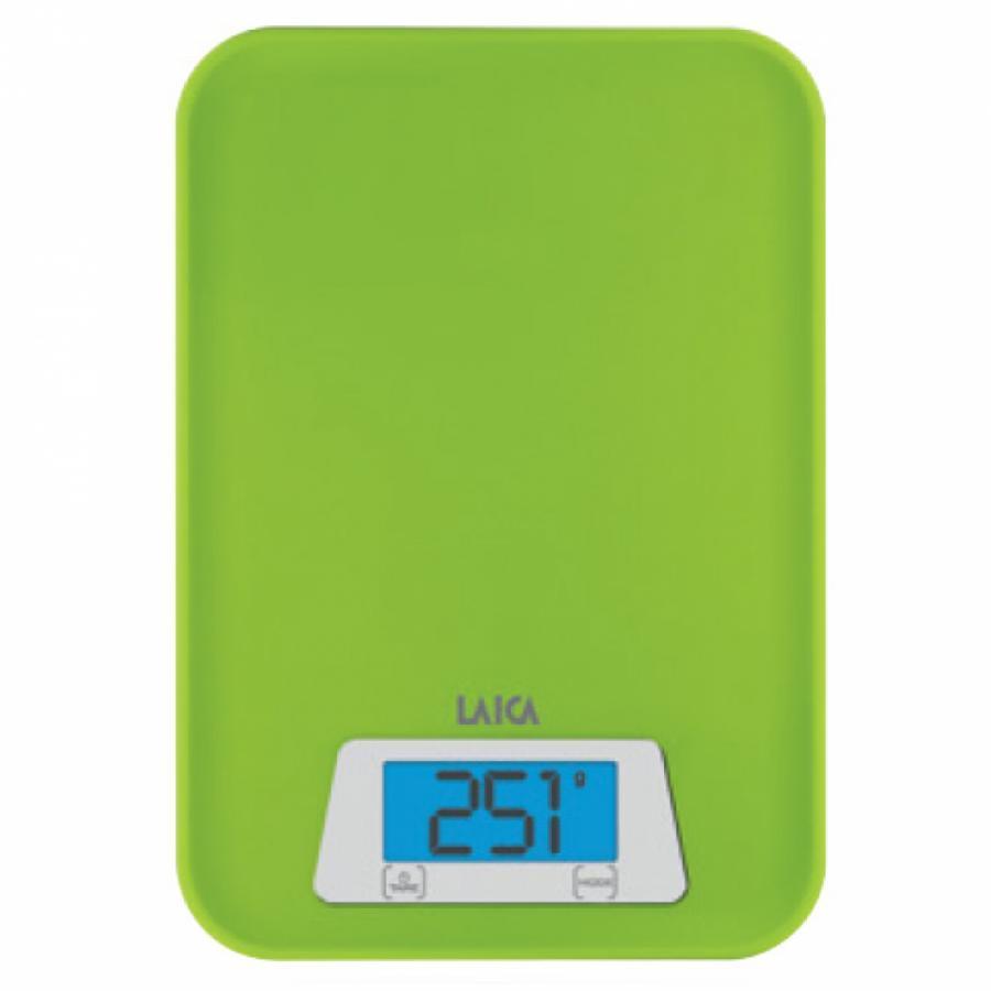 Cân dinh dưỡng nhà bếp đo Trọng lượng và Thể tích nước - LAICA KS1023 - Xanh lá ITALY