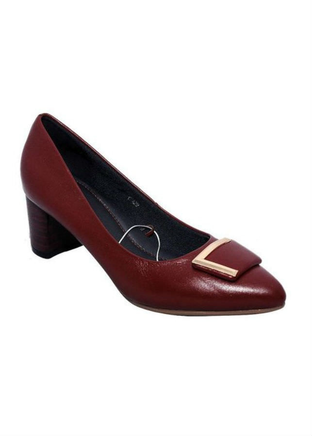 Giày Cao Gót Nữ Da Bò Elmi ESW99 - Đỏ Đô (Size 35)