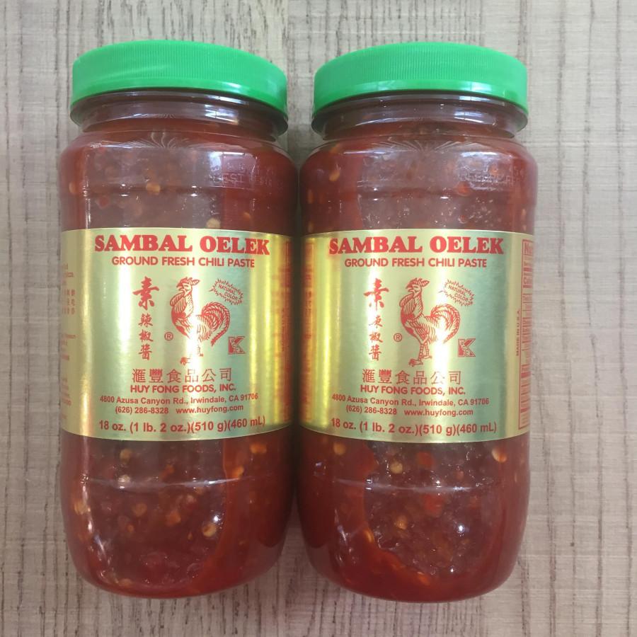 Combo 2 tương ớt tươi sambal oelek 460ml