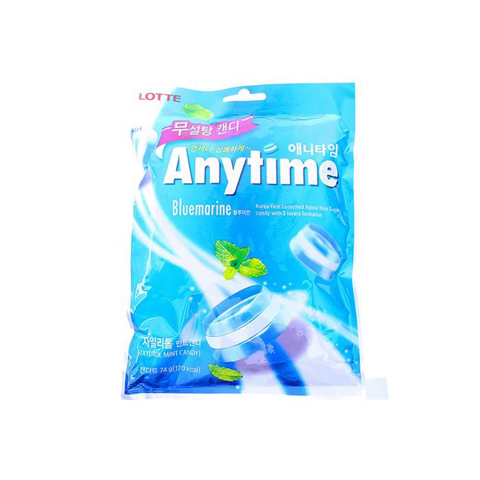 Kẹo Anytime Không Đường Bạc Hà Thảo Mộc Lotte (74g)