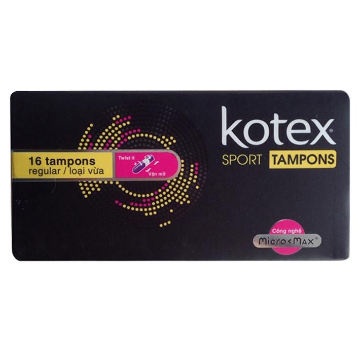 Băng Vệ Sinh Kotex® Tampon (16 Cái / Hộp)
