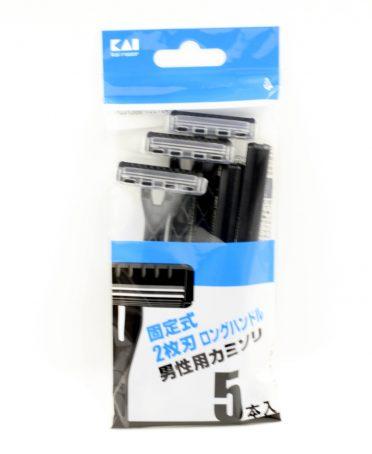 Set 5 dao cạo 2 lưỡi kép KAI (màu đen) nội địa Nhật Bản