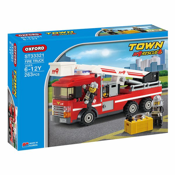 Đồ Chơi Lắp Ráp Oxford - Town Series (Fire Truck) ST33321 (265 Miếng)