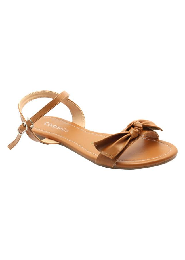 Giày Sandal Nữ Cindydrella A27N - Nâu