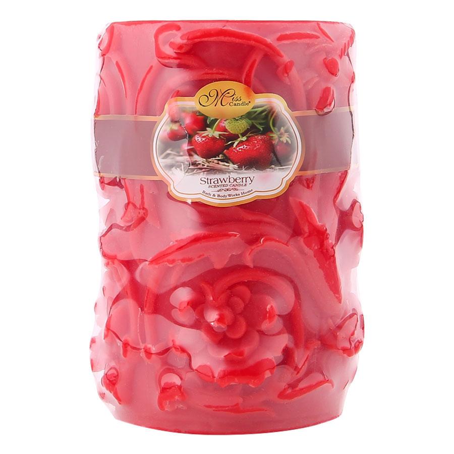 Nến Thơm Decor Hoa Lan Strawberry Miss Candle Ftramart D10H15.HL (10 x 15 cm)