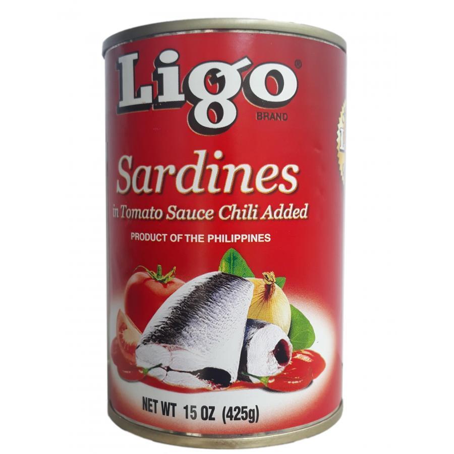 Cá Mòi Sốt Cà Vị Ớt Cay Ligo 425g