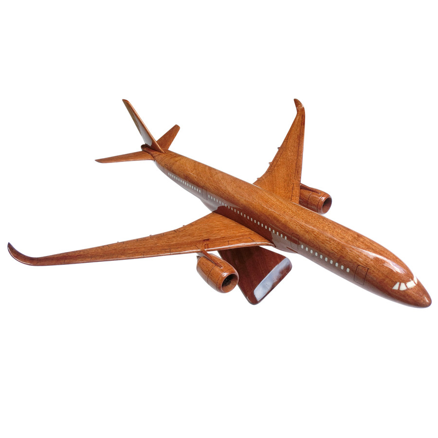 Mô hình máy bay gỗ Airbus A350 - Size Nhỏ