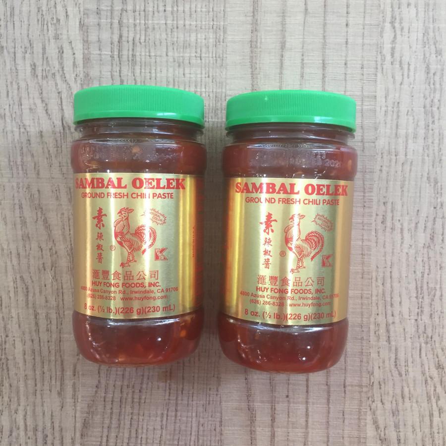 Combo 2 tương ớt tươi sambal oelek 230 ml