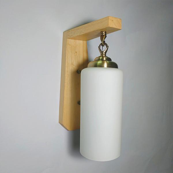 Đèn gắn tường đế gỗ cao cấp VINTAGE - tặng kèm bóng LED chuyên dụng