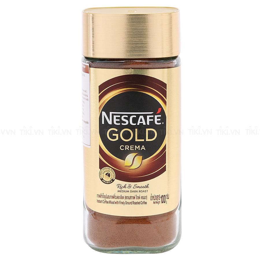 Cà Phê Hòa Tan Kết Hợp Rang Xay Nescafe Gold Crema (100g)