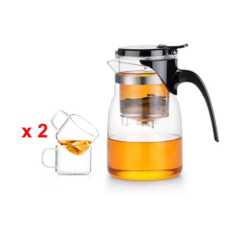 Bộ bình lọc trà thủy tinh Samadoyo NA011 900ml
