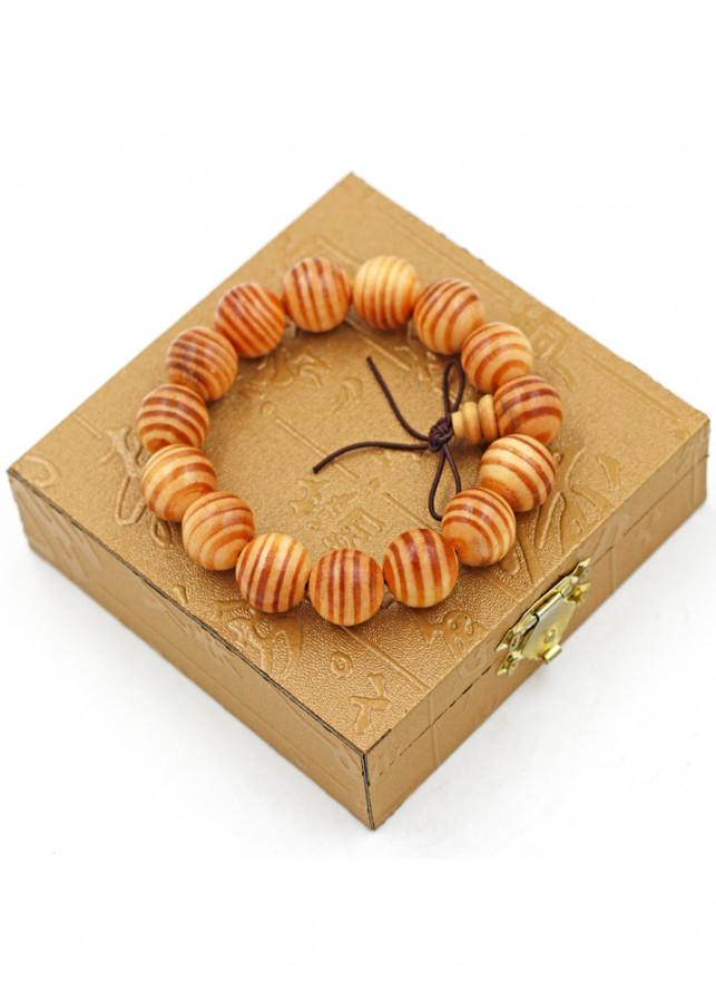 Vòng tay chuỗi hạt gỗ Huyết rồng 15 ly kèm hộp gỗ