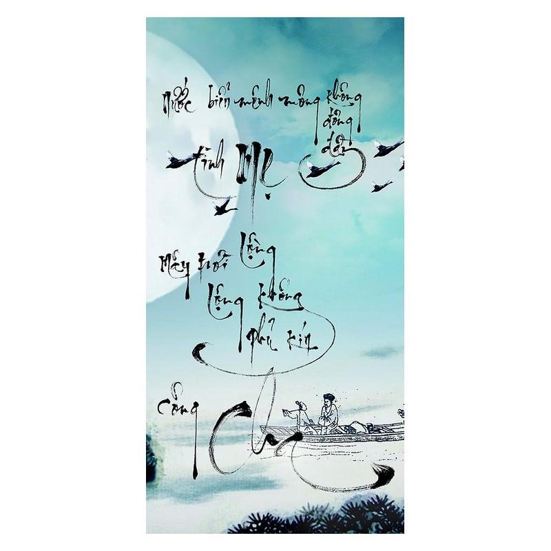 Tranh Thư Pháp Chữ Cha Mẹ 2593 (30 x 60 cm)