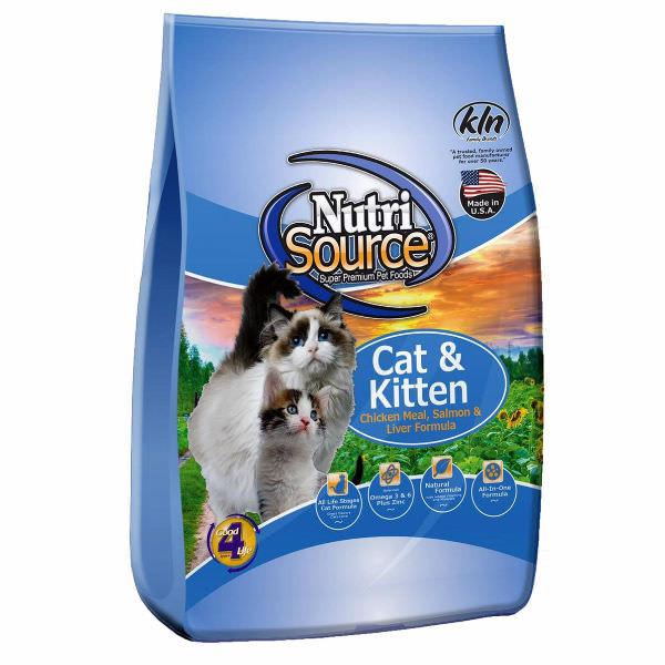 Thức Ăn Cho Mèo Vị Gà Và Cá Hồi Nutri Source - Xanh Nước Biển (3kg)