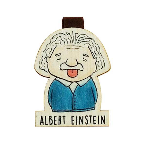 Bookmark gỗ nam châm Albert Einstein