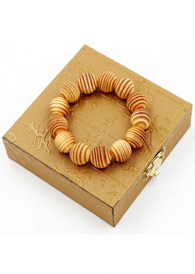 Vòng tay chuỗi hạt gỗ Huyết rồng 18 ly 13 hạt kèm hộp gỗ