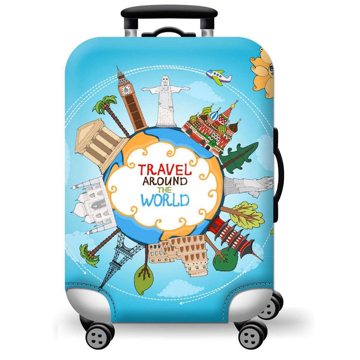 Túi bọc bảo vệ vali -Áo vỏ bọc vali - Around-Tròn