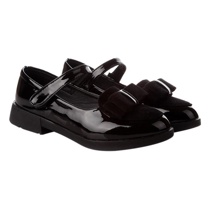 Giày Phong Cách Vintage Cực Xinh Cho Bé Gái 3 - 12 Tuổi G3 - Đen