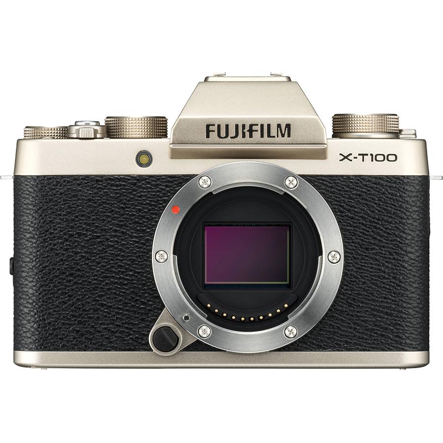 Máy Ảnh Fujifilm X-T100 Kit XC15-45mm f3.5-5.6 OIS (Vàng) + Thẻ Nhớ Sandisk 16GB Tốc Độ 48MB/s + Túi Đựng Máy Ảnh Fujifilm