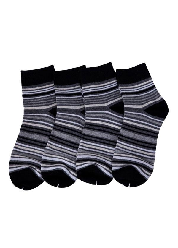 Combo 4 Đôi Tất Nam Hoa Văn Cổ Trung Basic Wear 4Men - Mẫu 10