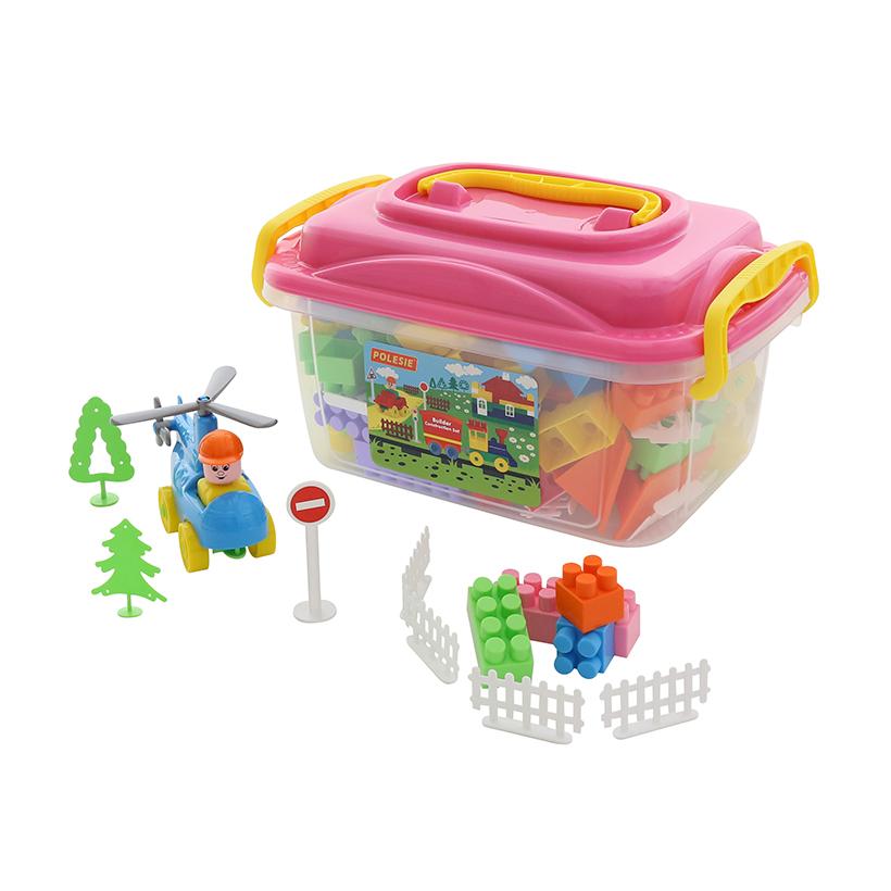 Bộ đồ chơi lắp ghép xây dựng kèm hộp đựng số 136 – Polesie Toys