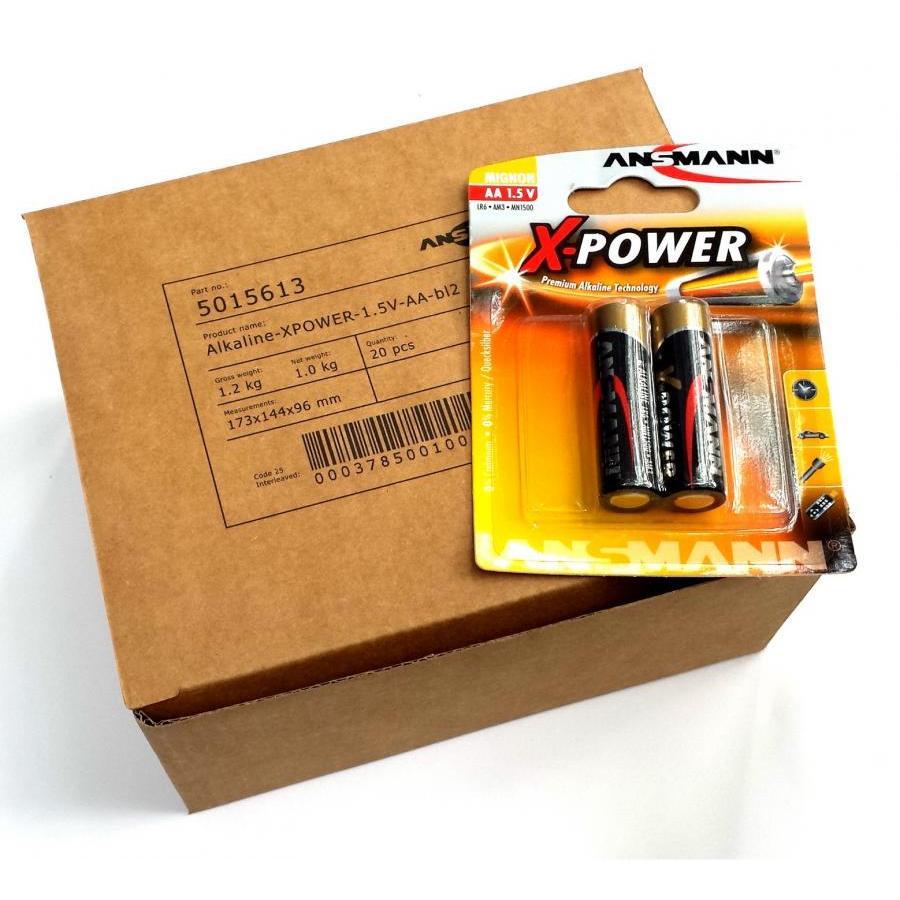 Hộp 20 vỉ Pin AA X-Power ANSMANN ALKALINE