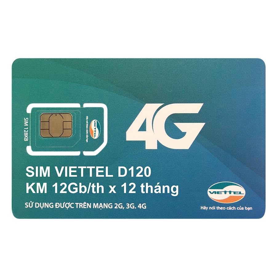Sim 4G Viettel 12GB / Tháng (12 Tháng)