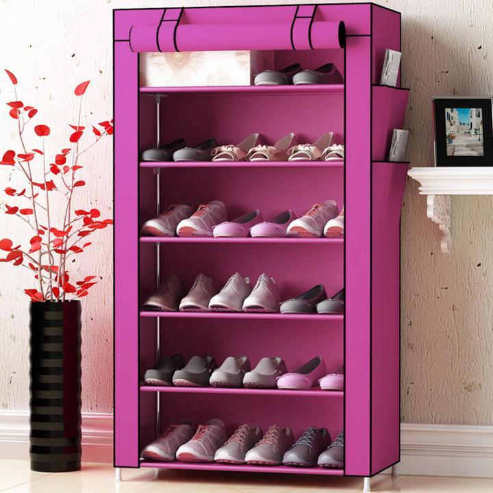Tủ vải giày dép 6 tầng - giao màu ngẫu nhiên