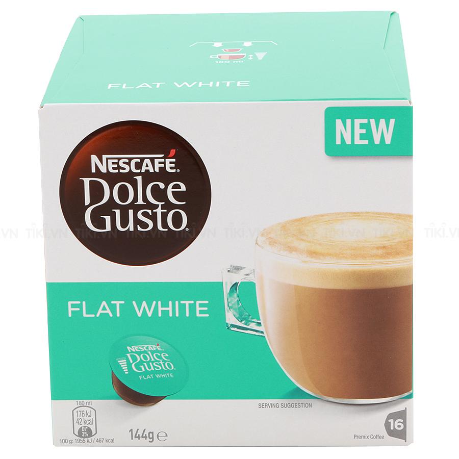 Hộp 16 Viên Nén Cà Phê Sữa Nescafe Dolce Gusto –  Café Flatwhite (144g)