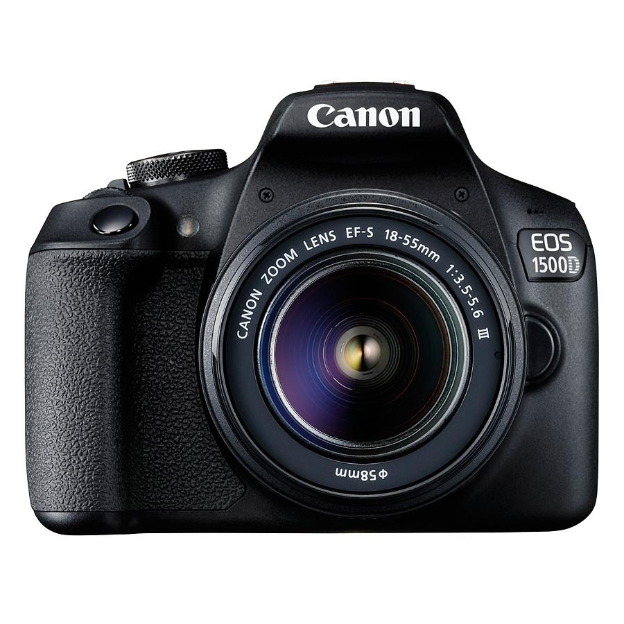 Máy Ảnh Canon EOS 1500D Kit Lens EF-S 18 - 55mm III (Hàng chính hãng) - Tặng Thẻ 16GB + Túi Máy Ảnh + Tấm Dán LCD