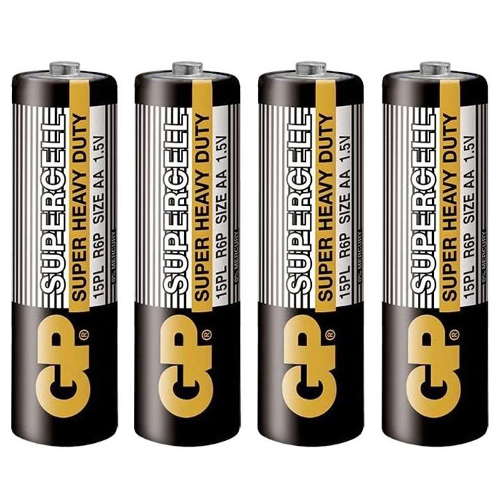 Pin GP Carbon Zinc Supercell AA GP15PL-2S4 (4 Viên/ Vỉ)