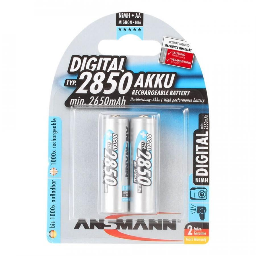 Bộ 2 Pin Sạc  AA 2850 ANSMANN