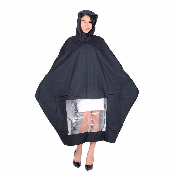Áo mưa vải dù tổ ong có kiếng đèn cao cấp