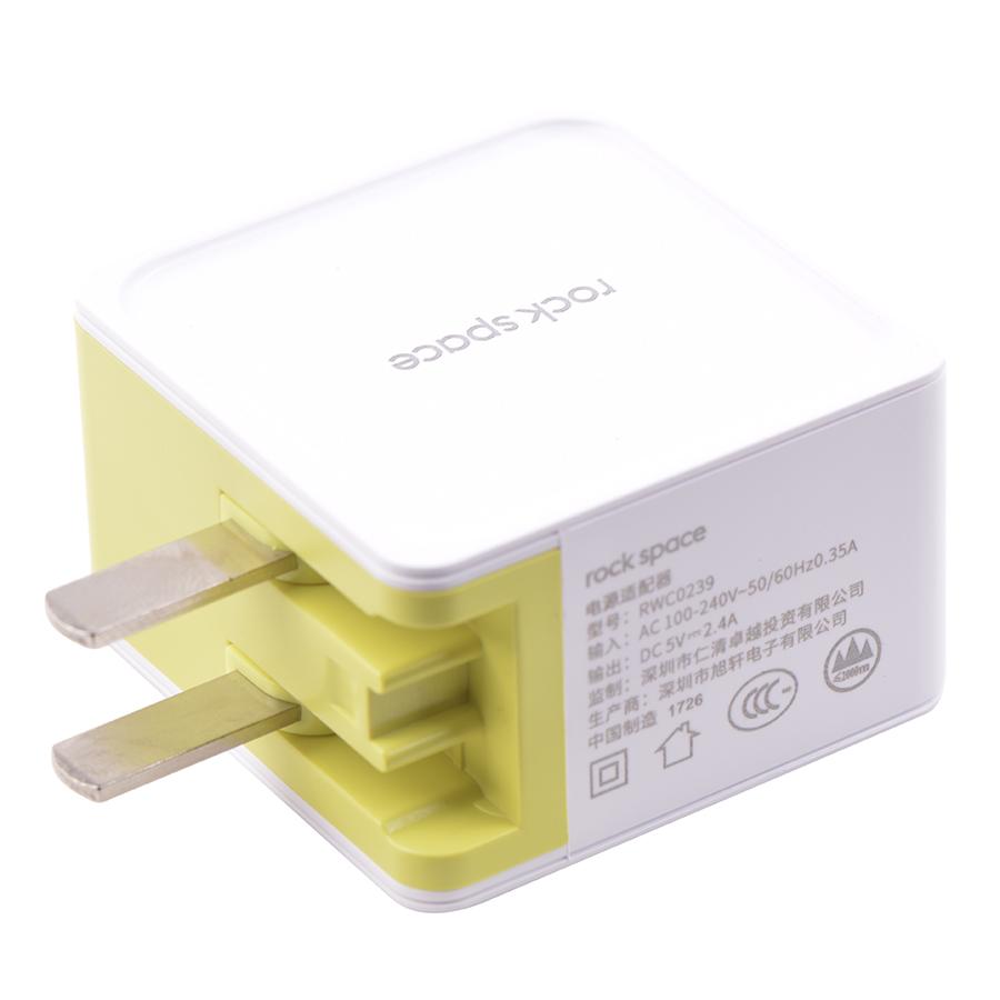 Adapter Sạc 2 Cổng USB Rock Suger 2.4A RWC0239