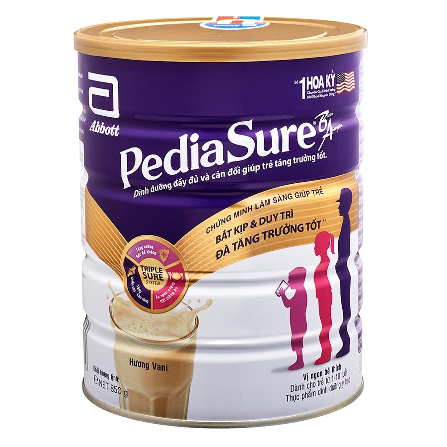 Sữa Bột Abbott Pediasure B/A PCLA Dành Cho Trẻ Từ 1 – 10 Tuổi (850g)