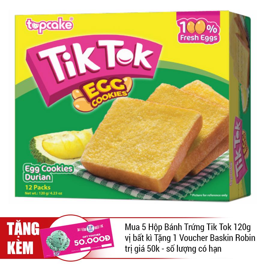 Bánh Trứng Tik-Tok Sầu Riêng (120g)