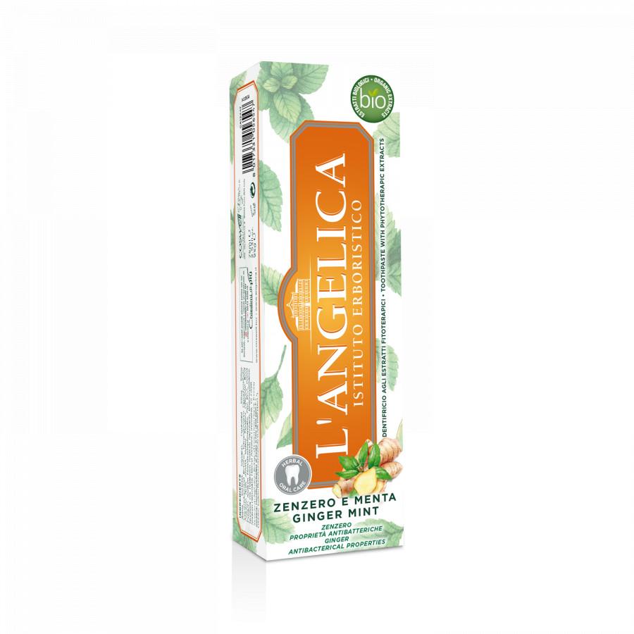 Kem Đánh Răng L'Angelica Toothpaste - Mint and Ginger - Bạc Hà và Gừng