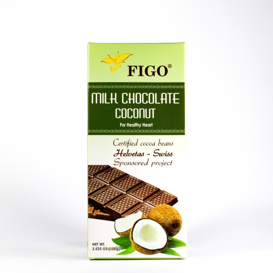 Kẹo Socola tăng cân nhân Dừa Figo 100gram