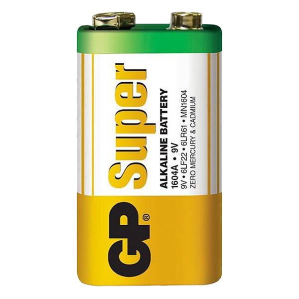 Pin GP Super Alkaline 9V GP1604A-2U1+000 (1 Viên/ Vỉ)