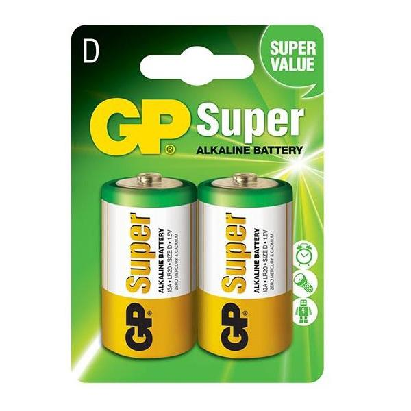 Pin Super GP GP13A-2U2 Alkaline D (2 Viên/Vỉ)