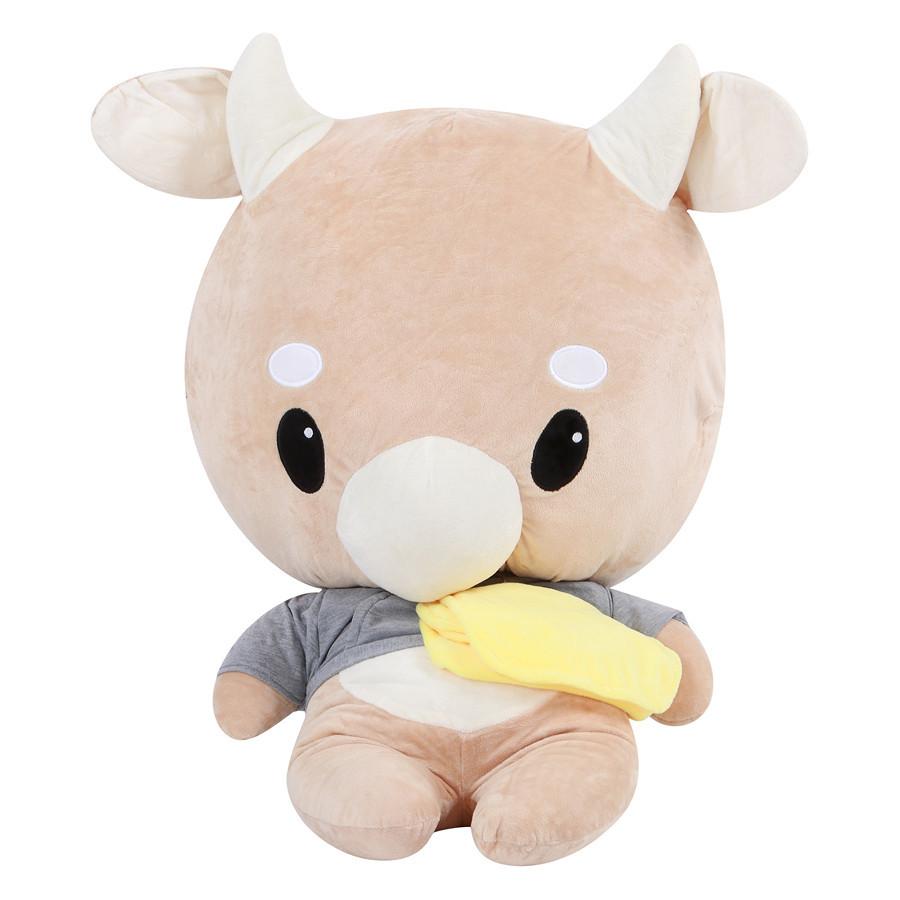 Gấu Bông Bò Chăm Chỉ Cao 25 cm - Thư Ký Kim Sao Thế - Vàng