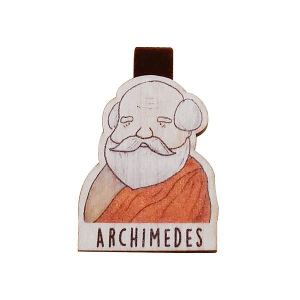 Bookmark gỗ nam châm Archimedes