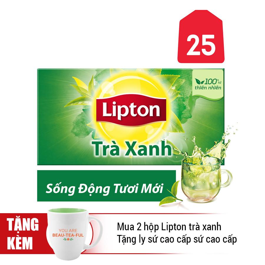 Hộp 25 Gói Lipton Trà Xanh (Gói 1.5g)