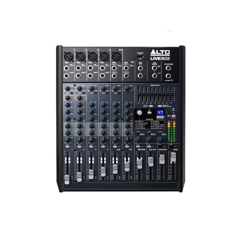Máy trộn tiếng Mixer Alto Live 802