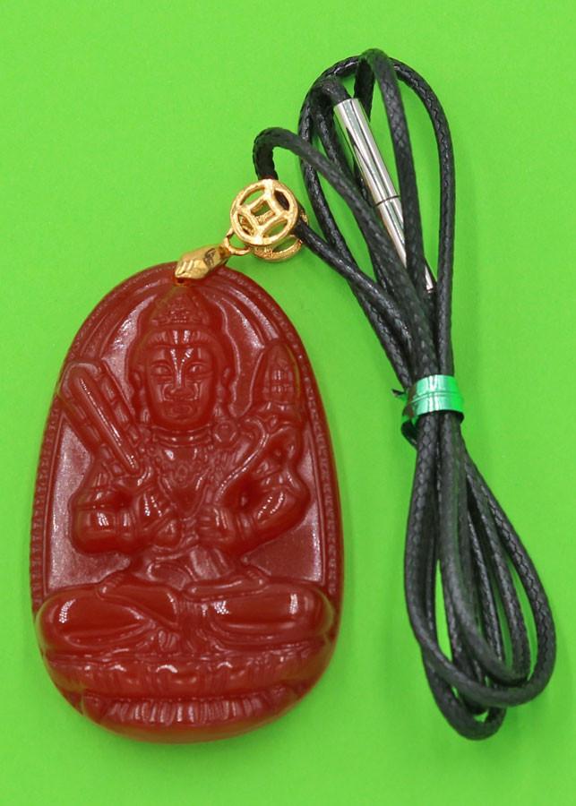 Vòng cổ Hư Không Tạng Bồ Tát thạch anh đỏ 5 cm DEDN6