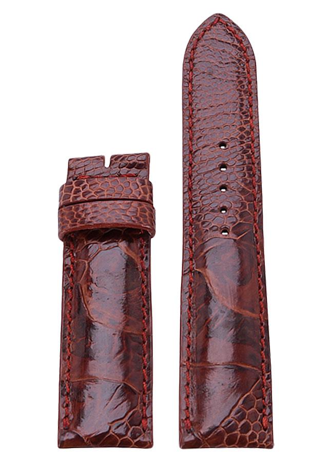 Dây Đồng Hồ Da Đà Điểu Size Lớn Huy Hoàng HT8415 - Nâu Đỏ