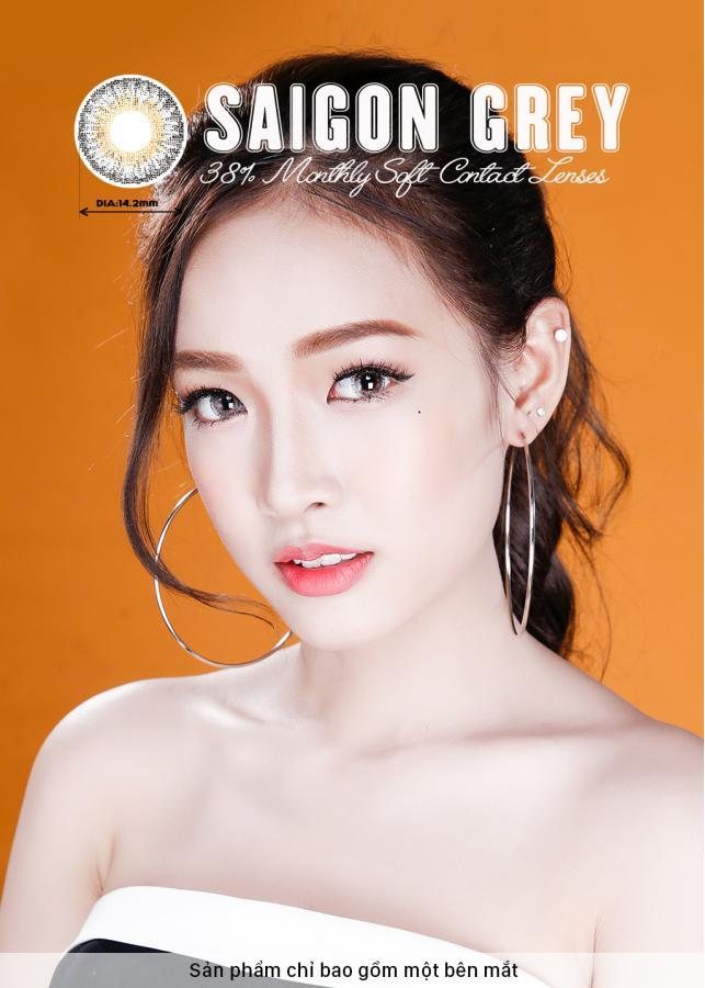 [Một miếng] Kính Áp Tròng Dùng 1 Tháng Eye Secret KM1T - Saigon Grey