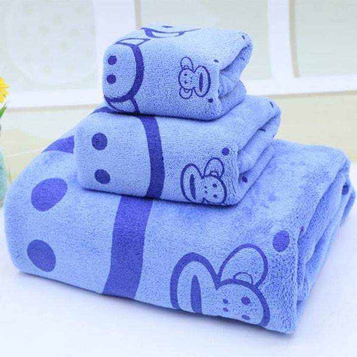 Bộ 3 khăn tắm cho mẹ và bé - giao màu ngẫu nhiên