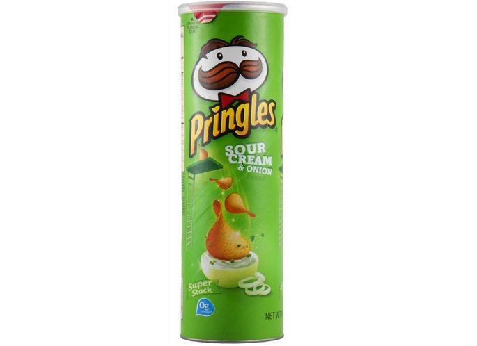 Khoai tây chiên giòn Pringles nhập khẩu  Mỹ ( USA ) 158g vị Kem chua và Hành