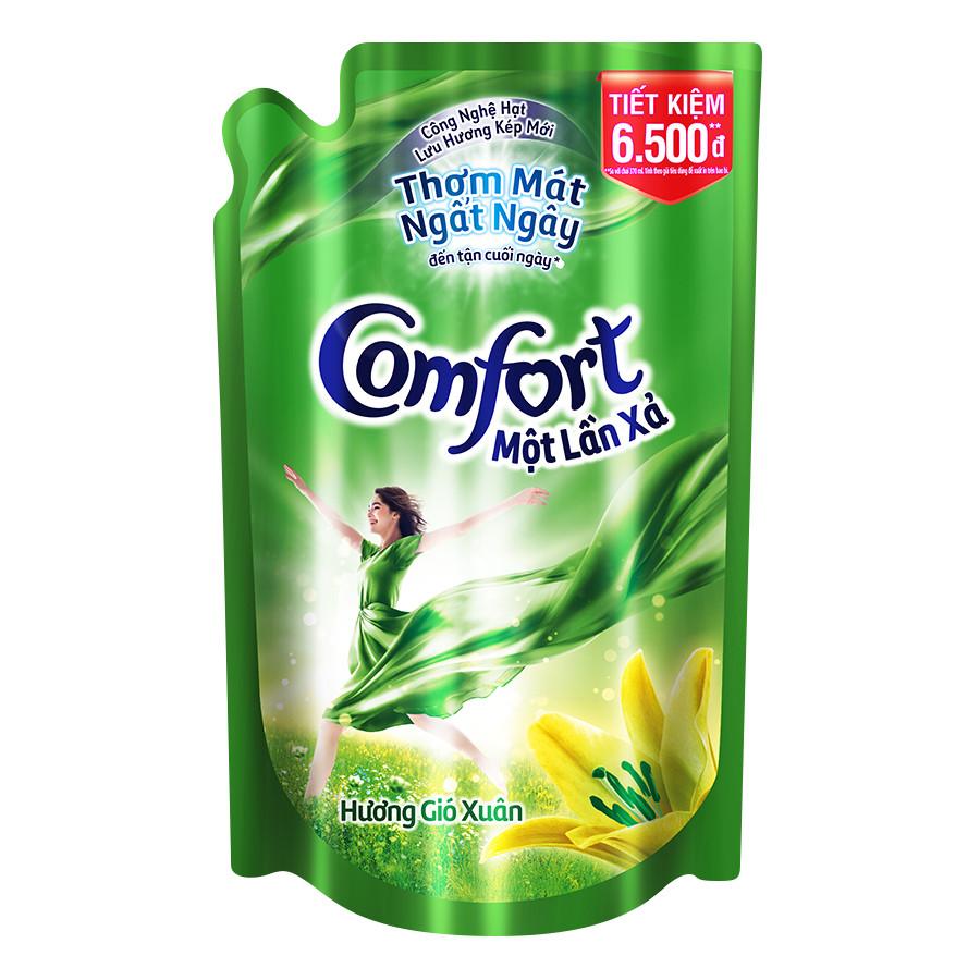 Nước Xả Vải Comfort Đậm Đặc 1 Lần Xả Hương Gió Xuân 800ml - 32010062